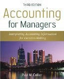Accounting for Managers by Collier
