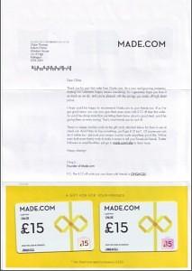 Made.com Letter