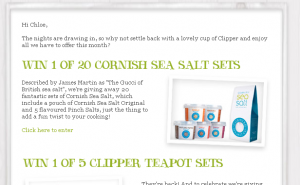 Clipper Tea and Sea Salt