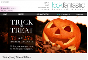 Trick or Treat Halloween Offer