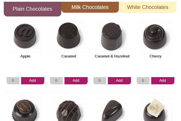 chocolate selector