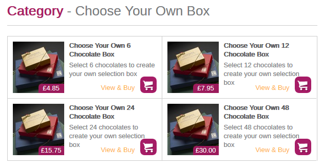 Select your box of chocolates