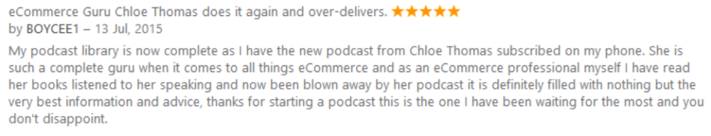 awesome itunes review