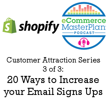 20 Ways to Increase your Email Signs Ups
