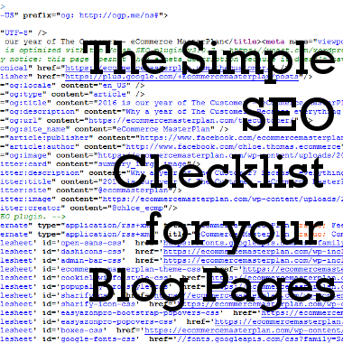 The Simple SEO Checklist for your Blog Pages
