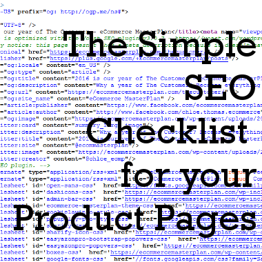 The Simple SEO Checklist for your Product Pages