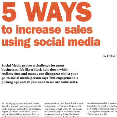 blog 5 ways to increase sales using social media
